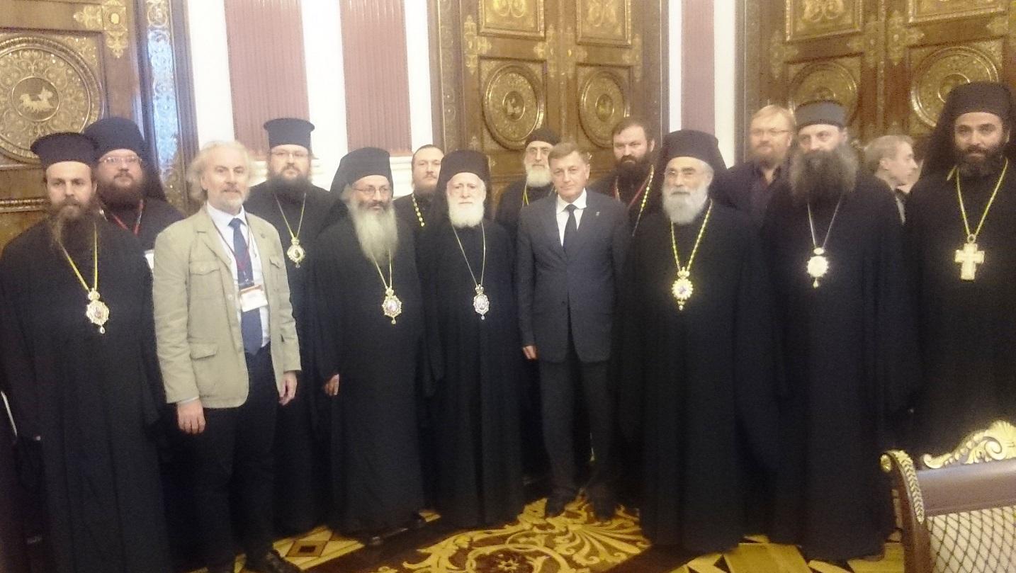 В Законодательном собрании Санкт-Петербурга: делегация участников Конференции и председатель Собрания В.С. Макаров