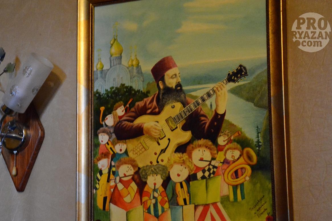 Музыкант, архитектор, владыка, схимник Иванников. Автор рисунка один из прихожан